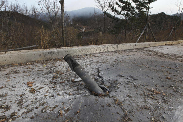 Unexploded Shell from the attack on Yeonpyeong